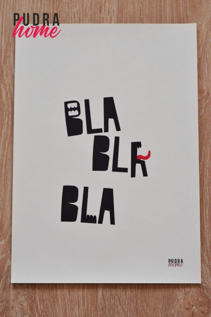 Постер Бла бла бла (полилит)