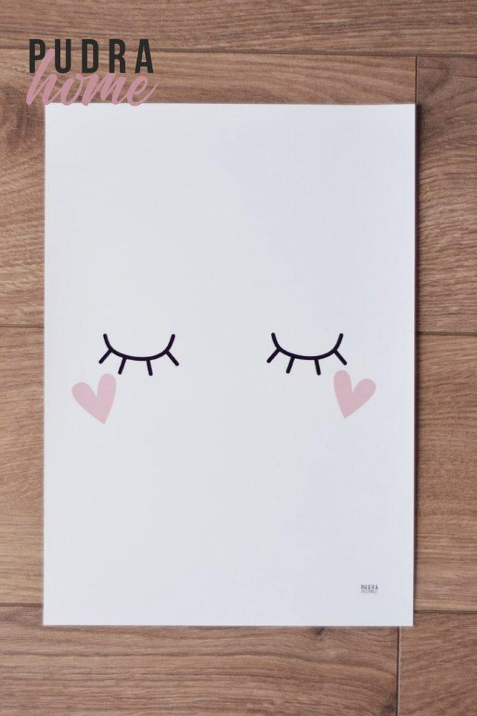 Постер Глазки-Сердечки (полилит)