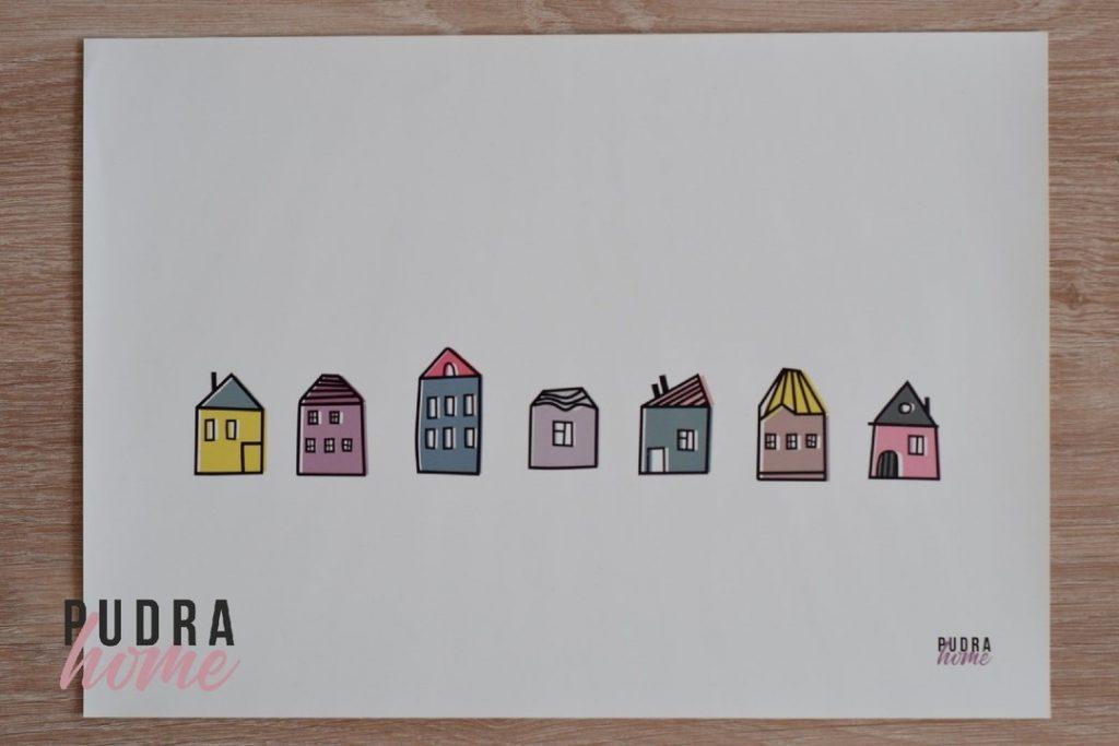 Постер Домики Цвет (полилит)
