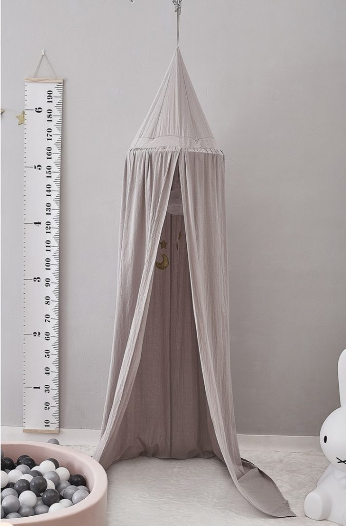 Балдахин для кроватки Серый