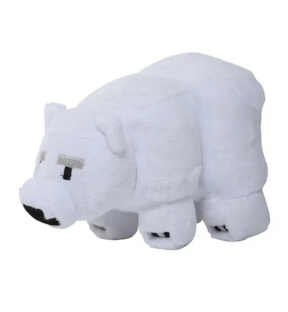 Плюшевый белый медвежонок Minecraft